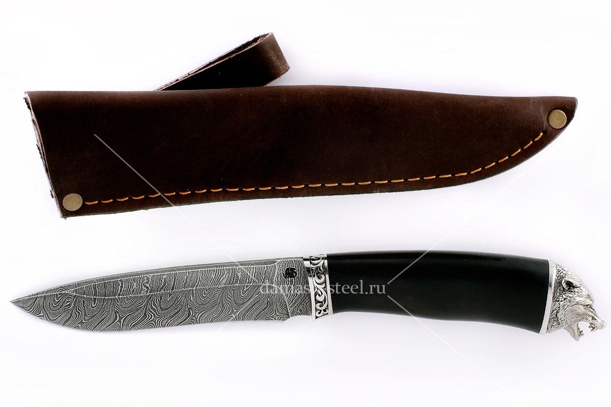Нож Юнкер(n) сталь дамаск граб (голова)