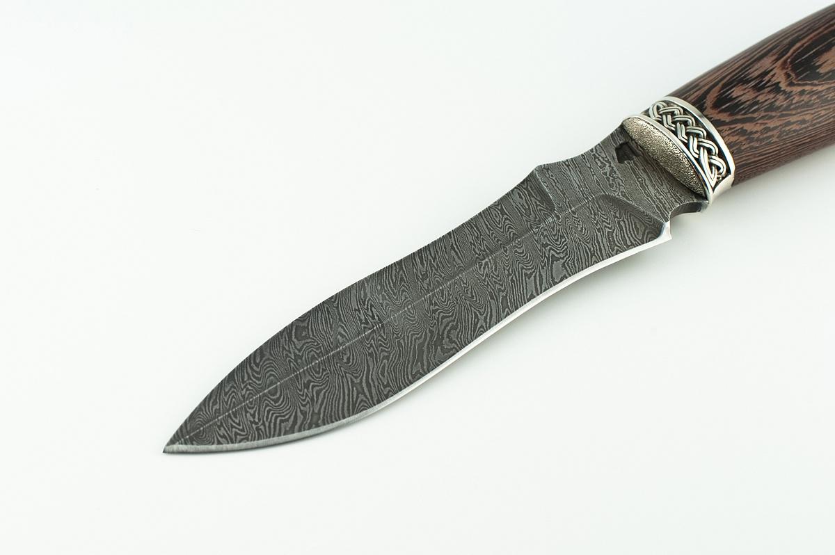 Нож Смерч сталь дамаск  венге