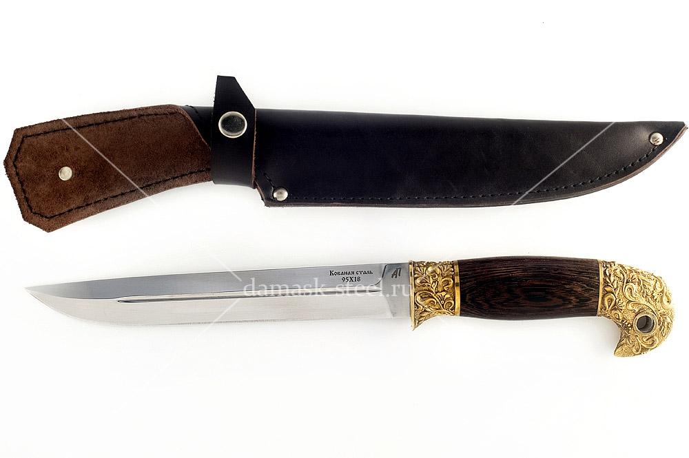 Нож Донской-1 кованая  сталь 95х18 венге