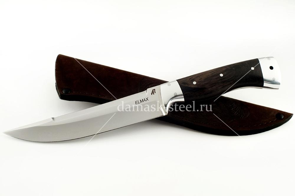 Нож Волк-3 сталь Элмакс цельнометаллический (взрезка)