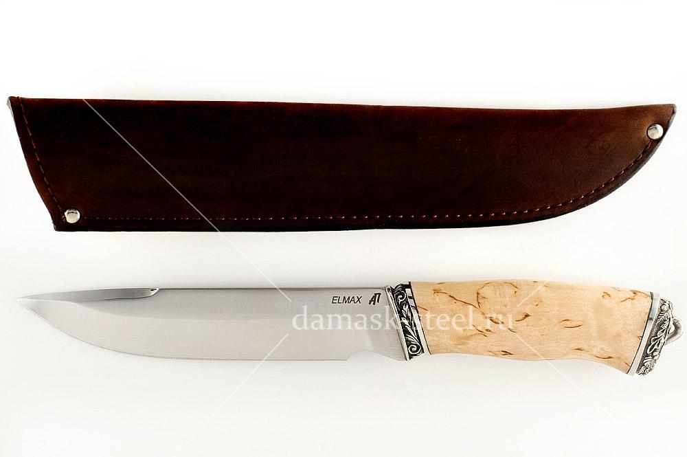 Нож Скорпион сталь Элмакс карельская берёза