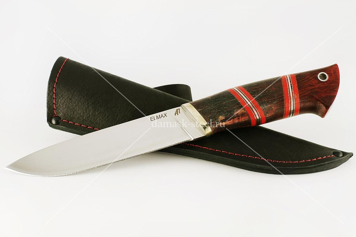Нож Варан сталь Элмакс карельская берёза