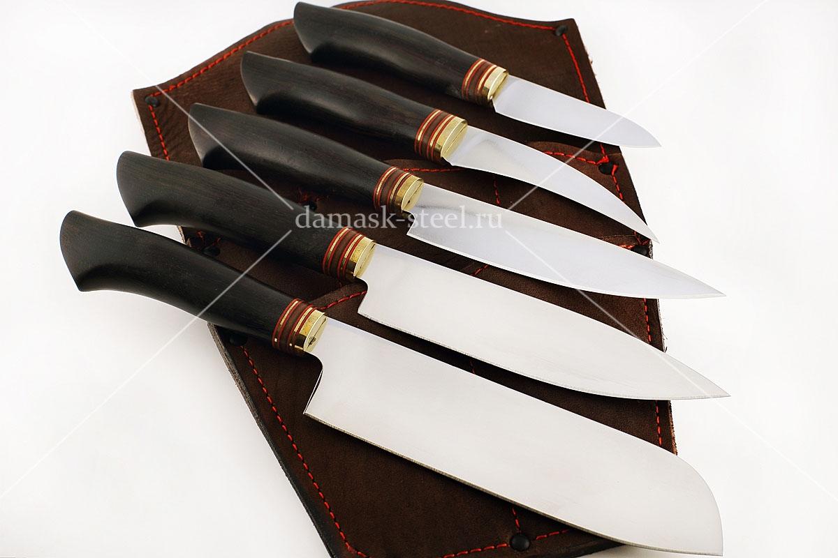 Набор пяти - предметный сталь Böhler N690 граб