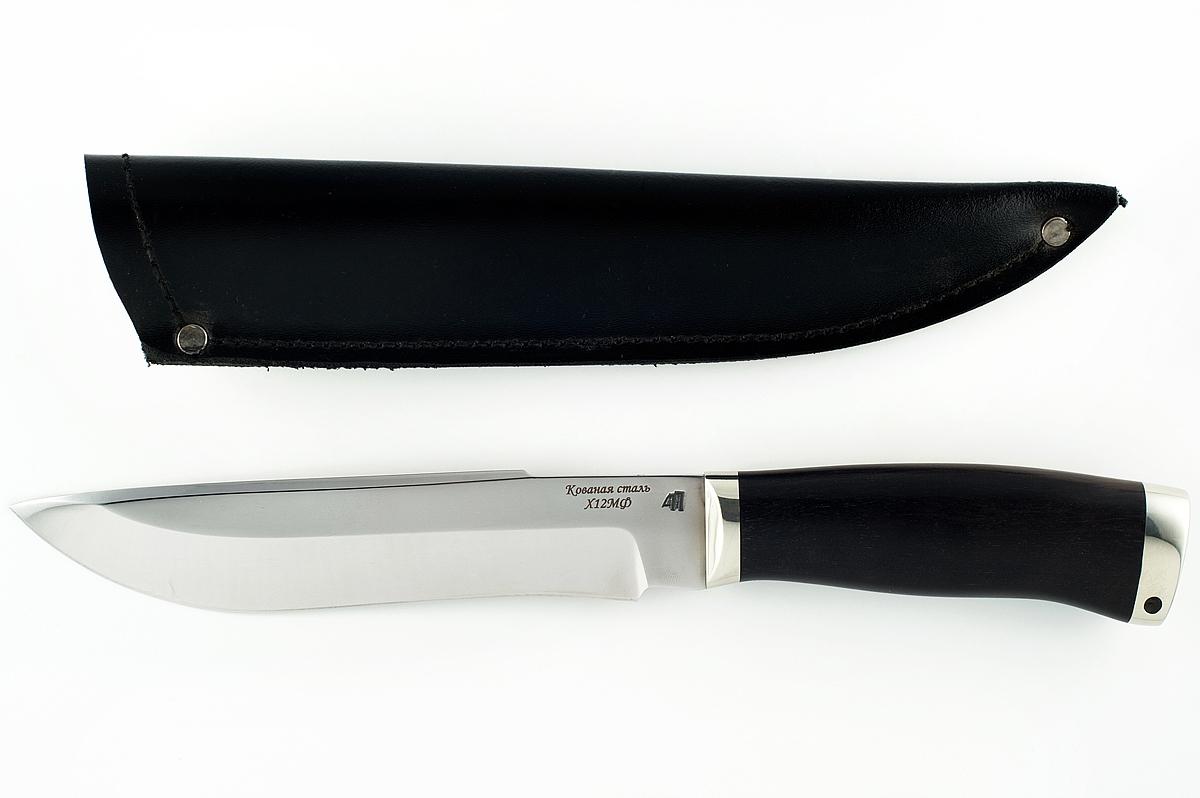 Нож Бизон-1 кованая сталь х12мф дерево граб