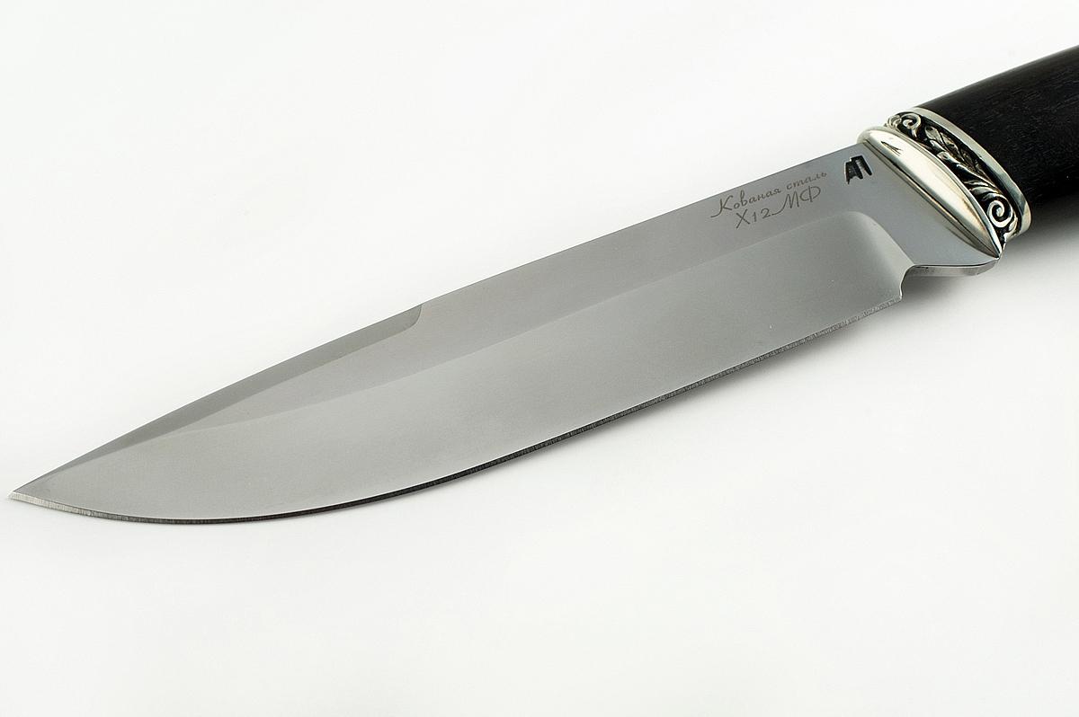 Нож Скорпион-2 кованая сталь х12мф дерево граб