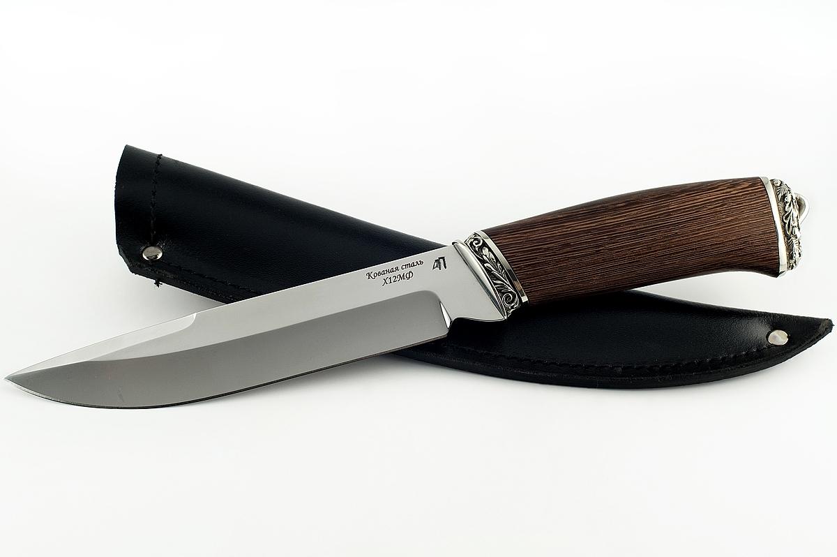 Нож Скорпион-6 кованая сталь х12мф венге