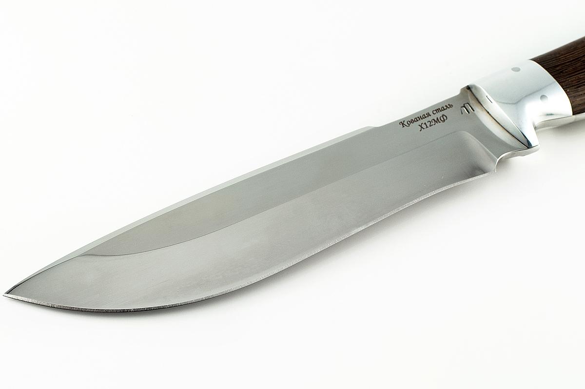 Нож Бизон-4 кованая сталь х12мф венге цельнометаллический