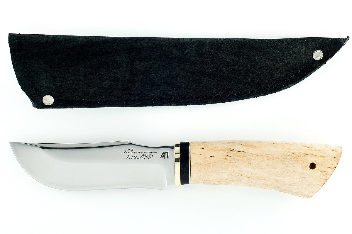 Нож Таёжный сталь х12мф карельская берёза