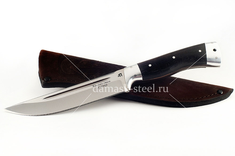 Нож Волк-10 сталь х12мф граб цельнометаллический