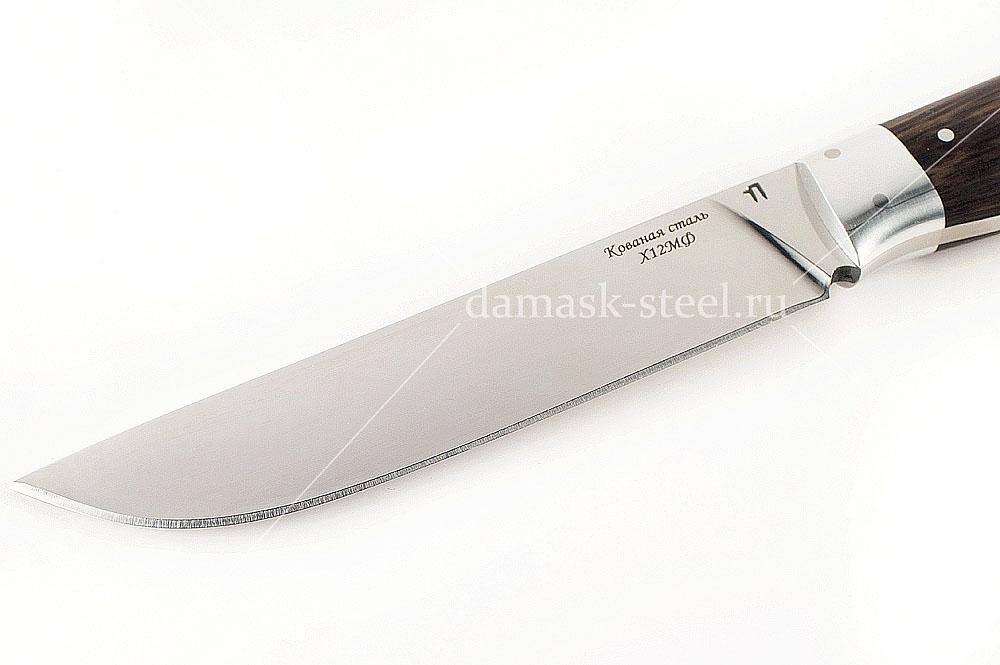 Нож Кобра сталь х12мф граб цельнометаллический