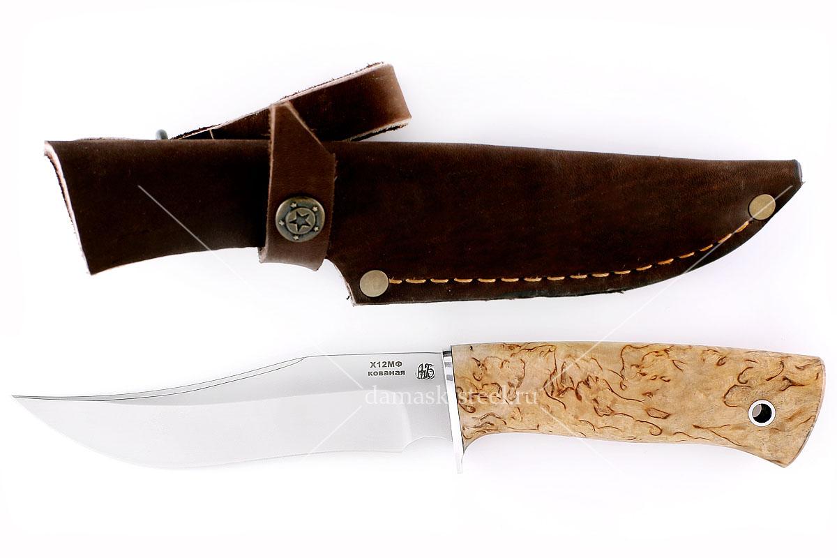 Нож Старатель(n) кованая сталь х12мф карельская берёза