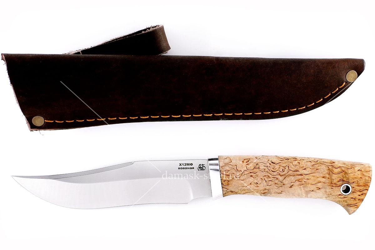 Нож Тайга(n) кованая сталь х12мф карельская берёза