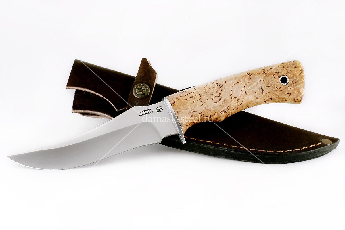 Нож Фараон(n) кованая сталь х12мф карельская берёза