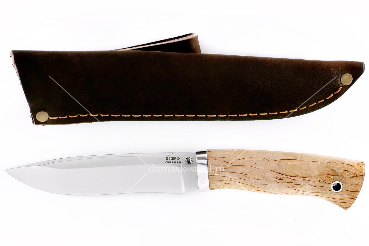 Нож Юнкер(n) кованая сталь х12мф карельская берёза