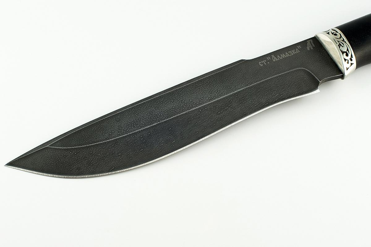 Нож Бизон-4 кованая сталь ХВ-5 Алмазка граб