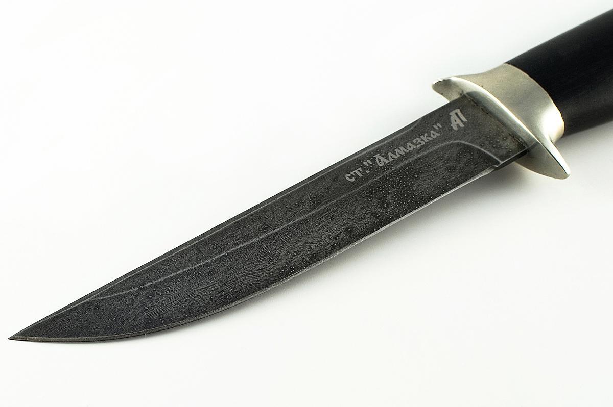 Нож Хорёк-2 кованая сталь ХВ-5 Алмазка граб