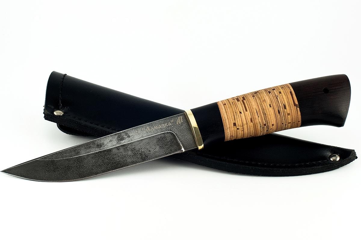 Нож Волк-5 кованая сталь ХВ-5 Алмазка граб и береста