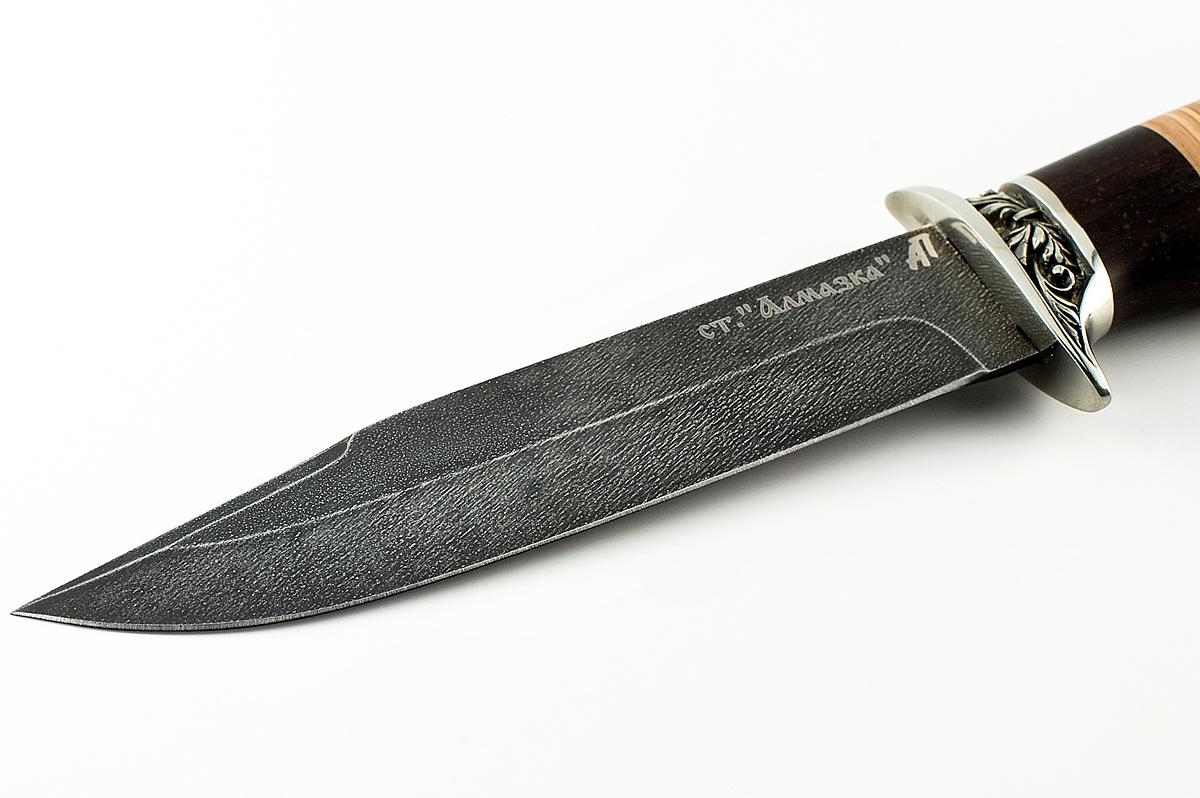 Нож Оса-2 кованая сталь ХВ-5 Алмазка граб