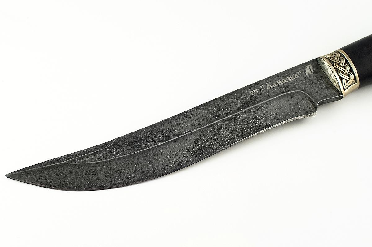 Нож Акула-2 кованая сталь ХВ-5 Алмазка граб