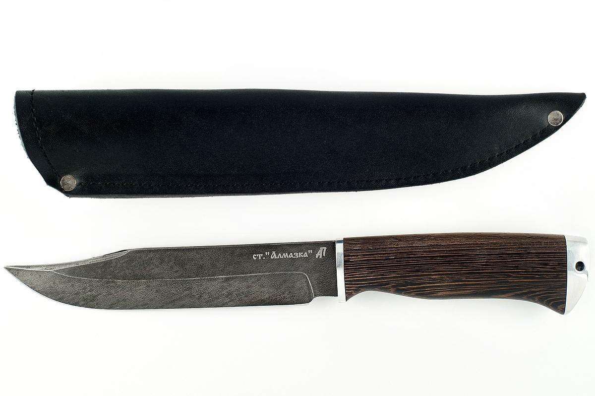 Нож Пират кованая сталь ХВ-5 Алмазка венге