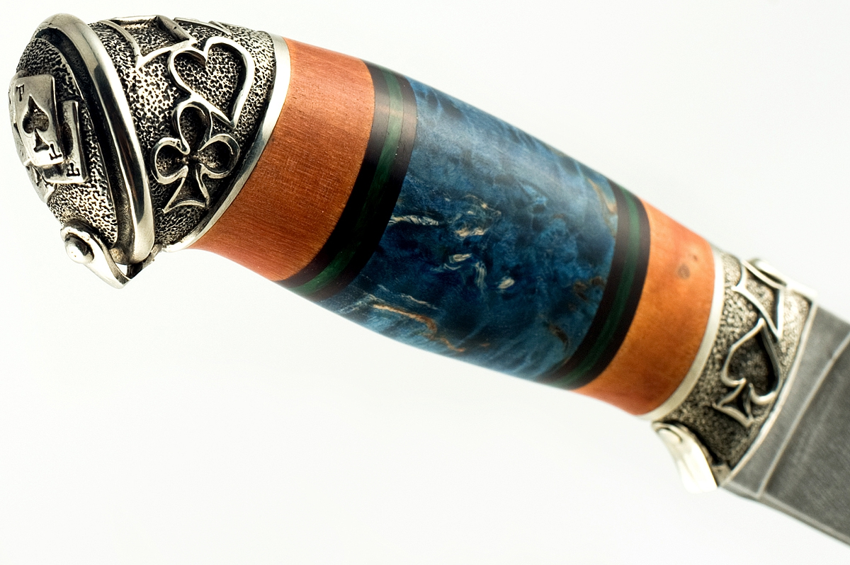 Нож Варан кованая сталь хв-5 Алмазка карельская берёза