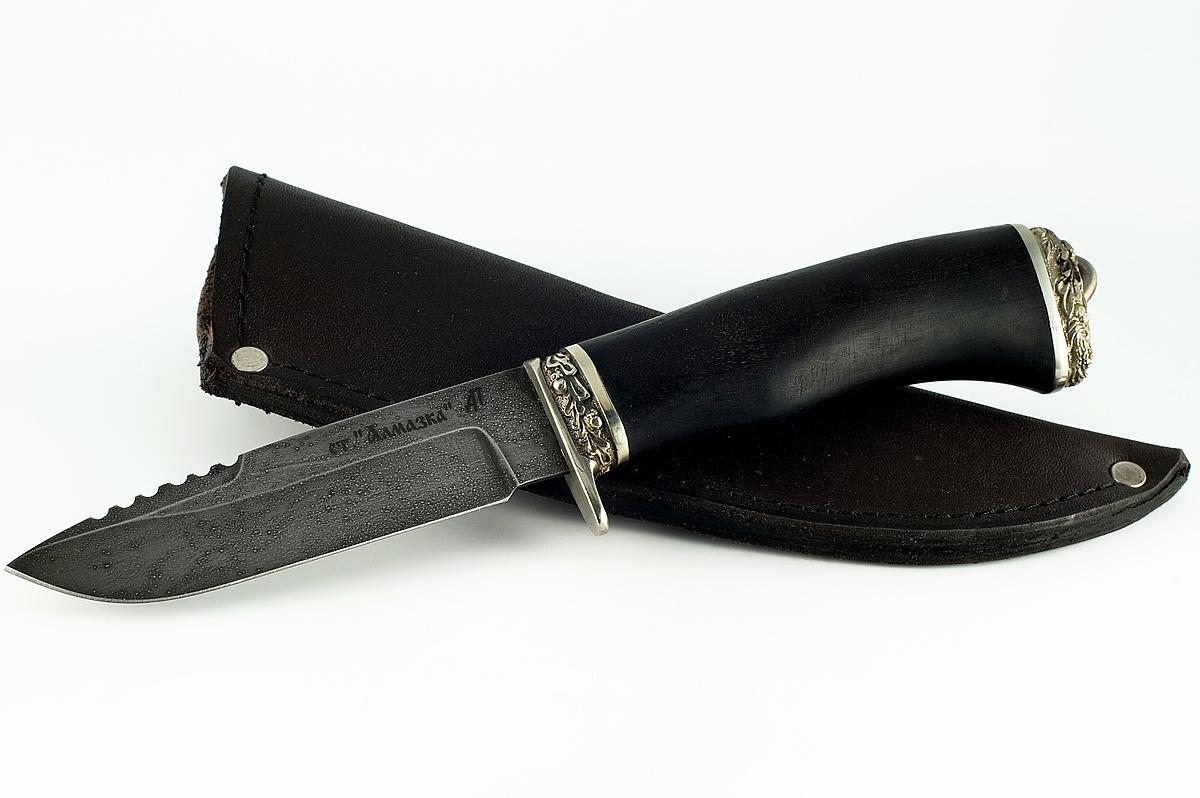 Нож Ласка кованая сталь ХВ-5 Алмазка граб