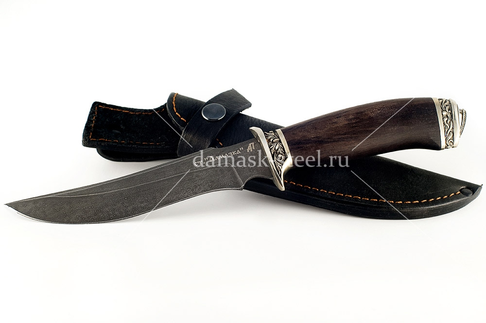 Нож Осётр кованая сталь ХВ-5 Алмазка граб