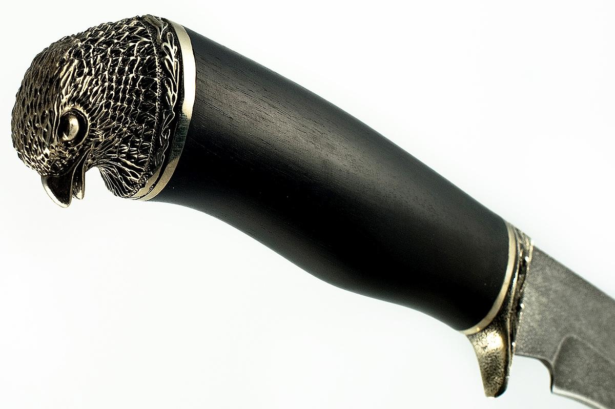 Нож Ястреб кованая сталь ХВ-5 Алмазка граб