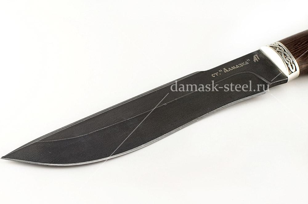 Нож Бизон-1 кованая сталь ХВ-5 Алмазка венге голова