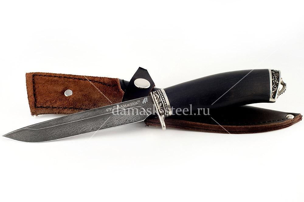 Нож Хорёк-9 кованая сталь ХВ-5 Алмазка граб