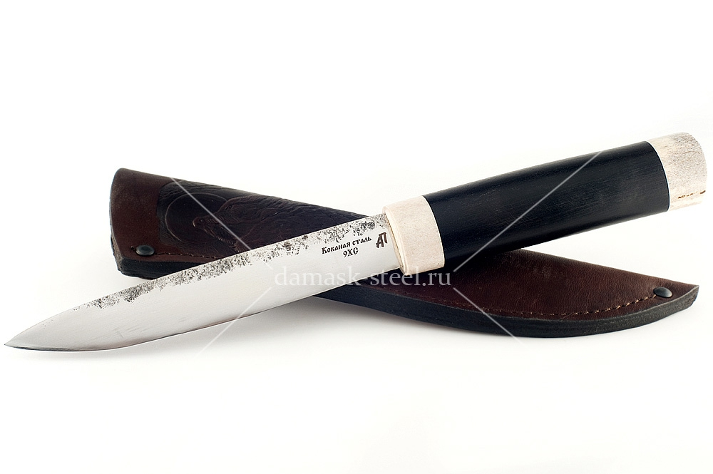 Нож Якутский кованая сталь 9хс граб