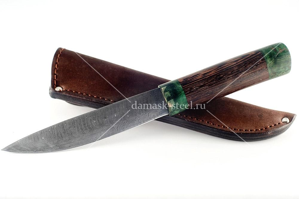 Нож Якутский сталь дамаск венге
