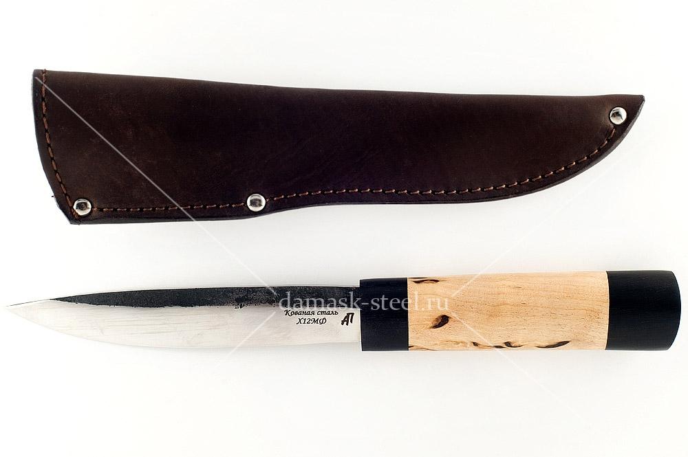 Нож Якутский кованая сталь х12мф карельская берёза