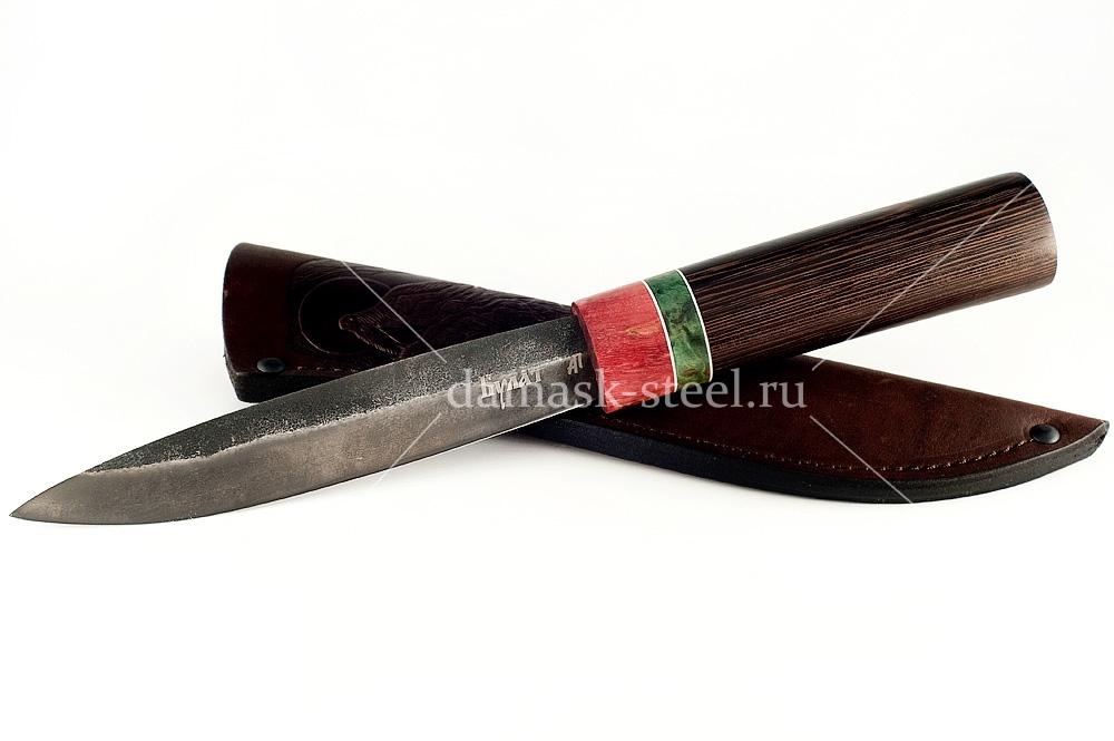 Нож Якутский сталь литой булат венге